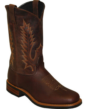"Sage by Abilene Men's 11"" Cowhide Western Boots - Square Toe, Brown, hi-res"