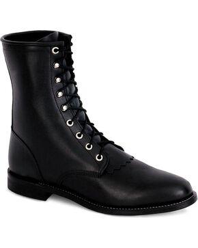 Justin Women's Lace Roper Boots, Black, hi-res