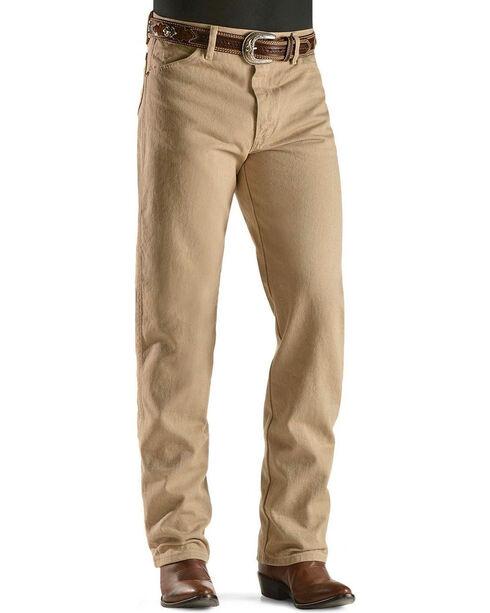 Wrangler Jeans - 13MWZ Original Fit Prewashed Colors - Tall, Tan, hi-res