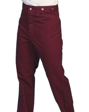 Scully Rail Striped Pants - Big and Tall, Burgundy, hi-res