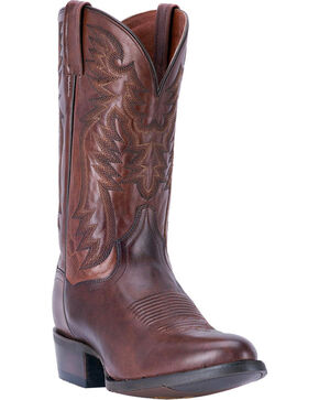 Dan Post Men's Centennial Round Toe Western Boots, Chocolate, hi-res