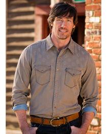 Ryan Michael Men's Diamond Jacquard Western Shirt, , hi-res