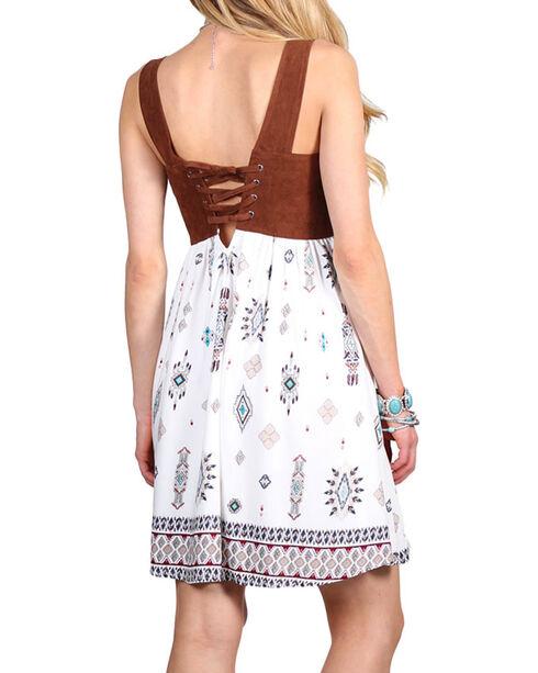 Shyanne® Women's Tie-Up Pattern Dress, Multi, hi-res