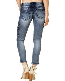 Miss Me Women's Raw Cuff Embroidered Side Skinny Jeans , , hi-res