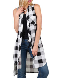 Cotton Express Women's Lace-Up Back Fashion Duster, , hi-res