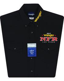 Wrangler Men's Black NFR Logo Long Sleeve Shirt - Tall, , hi-res