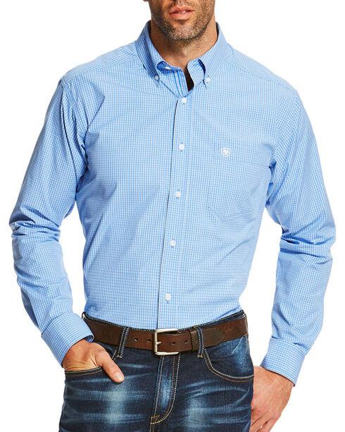 Ariat Men's Printed Button Down Long Sleeve Shirt , Blue, hi-res