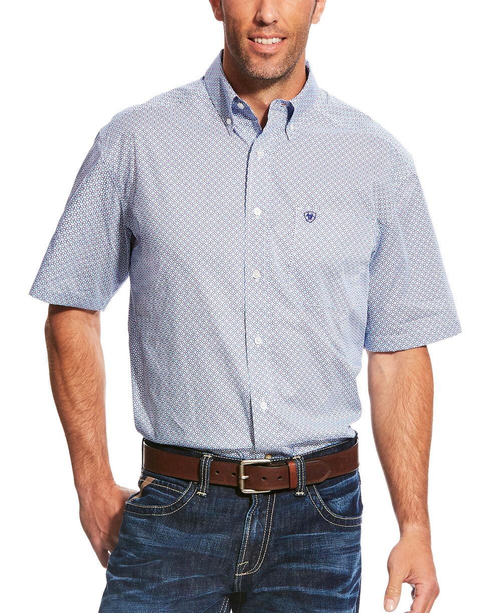 Ariat Men's Casual Series Myers Print Short Sleeve Button Down Shirt - Tall, , hi-res