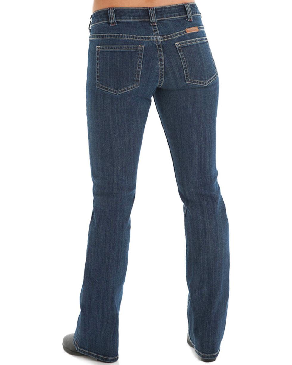 Cowgirl Tuff Women's Medium Wash Boot Cut Jeans, Blue, hi-res