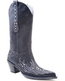 Roper Women's Embroidery and Rhinestone Western Boots, , hi-res