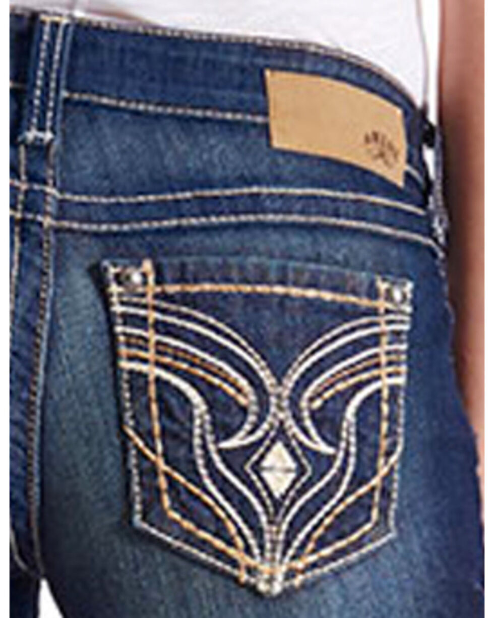 Ariat Women's Ruby Stretch Low Rise Boot Cut Jeans, Indigo, hi-res