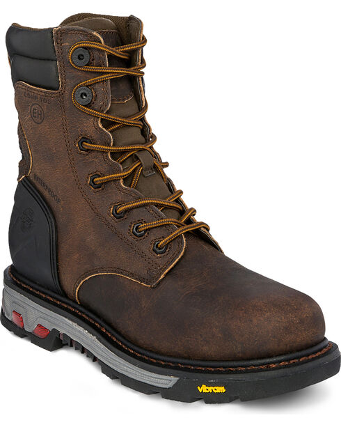 Justin Men's Drywall Waterproof Composite Toe Work Boots, Brown, hi-res