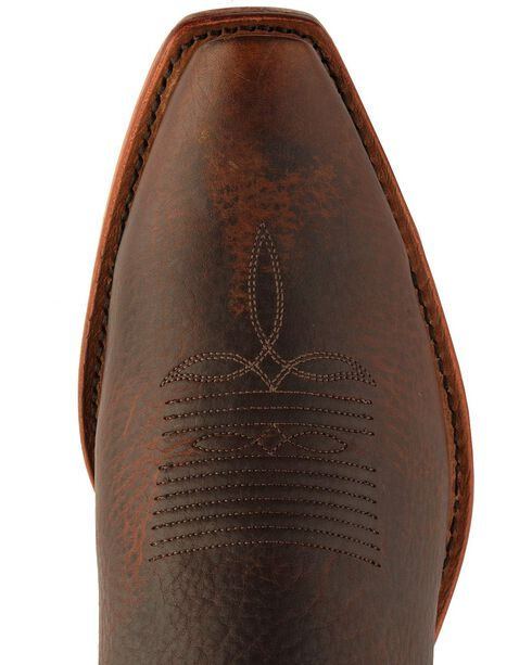 Tony Lama Men's El Paso Rowdy Bison Snip Toe Western Boots, Pecan, hi-res
