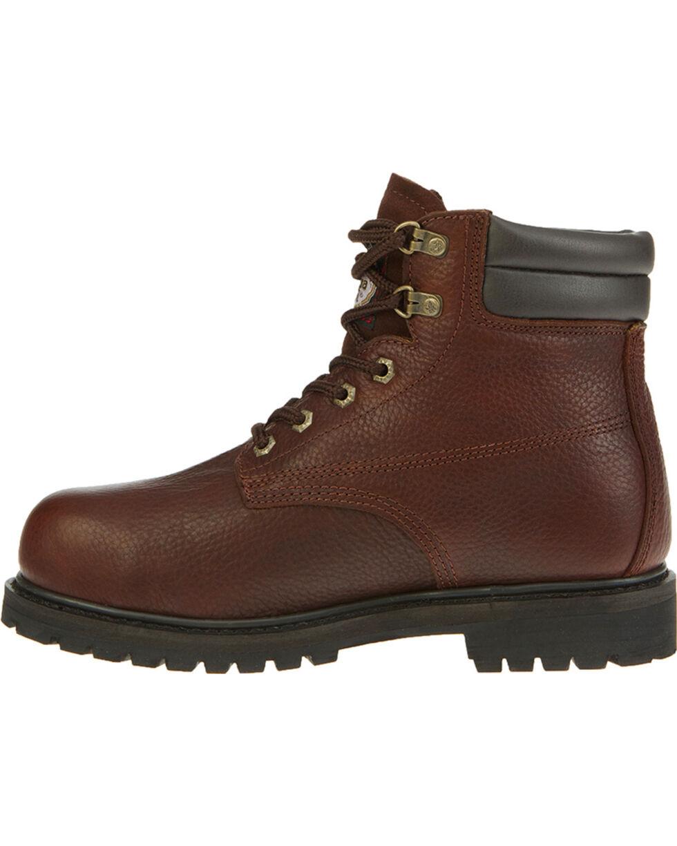 "Georgia Men's Brown Oiler Waterproof 6"" Work Boots - Steel Toe , Brown, hi-res"