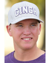 Cinch Men's Heather Grey Mid-Profile 3D Embroidery Baseball Cap , , hi-res