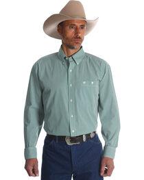 Wrangler Men's Classics Check  Long Sleeve Button Down Shirt, , hi-res