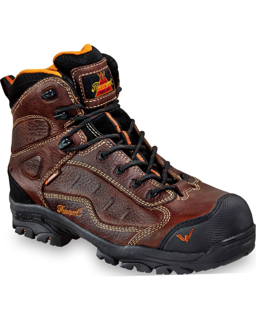 Thorogood Men's Z-Trac Sport Hiker Boots - Composite Toe, Brown, hi-res