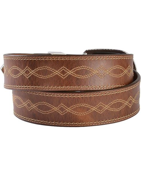 Ariat Women's Western Leather Belt, Russet, hi-res
