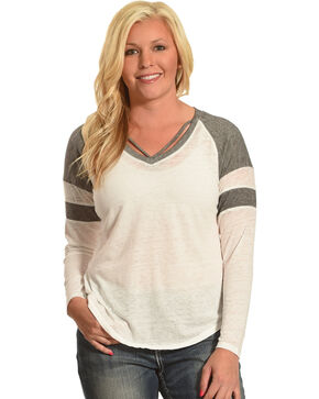 Derek Heart Women's Long Sleeve Thermal Top with Neck Straps, Multi, hi-res