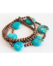 West & Co. Women's Mini Melon Turquoise Bead Bracelet, , hi-res
