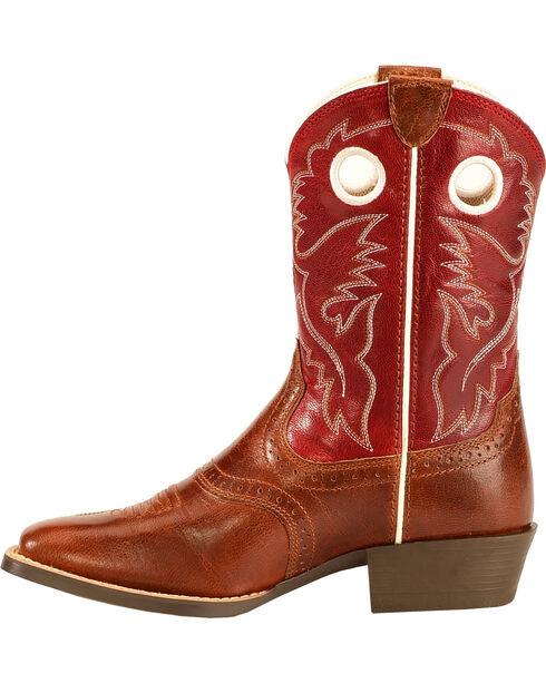 Ariat Kids' Rough Stock Western Boots, Tan, hi-res