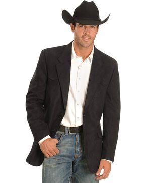 Black Microsuede Western Jacket, Black, hi-res