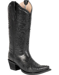 Circle G Women's Cross Embroidered Western Boots, , hi-res