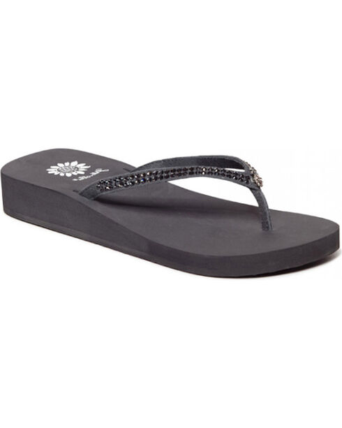 Yellow Box Women's Grey Jello Jeweled Sandals , Grey, hi-res