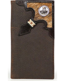 Cody James® Cowhide Rodeo Wallet/Checkbook Cover, , hi-res