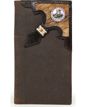 Cody James® Cowhide Rodeo Wallet/Checkbook Cover, Brown, hi-res