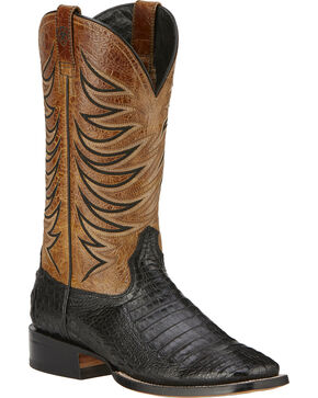 Ariat Men's Fire Catcher Caiman Western Boots, Black, hi-res