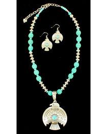 Blazin Roxx Women's Thunderbird Necklace & Earrings Set, , hi-res