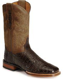 Dan Post Gel-Flex Cowboy Certified Caiman Stockman Boots, , hi-res