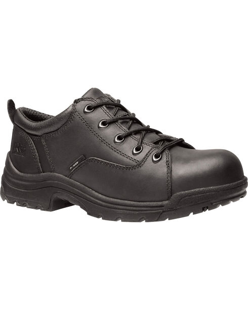 Timberland Pro Women's Titan Oxford Alloy Safety Toe Shoes, Black, hi-res