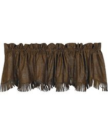 HiEnd Accents Caldwell Faux Tooled Leather Valance, , hi-res