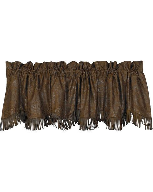 HiEnd Accents Caldwell Faux Tooled Leather Valance, Multi, hi-res