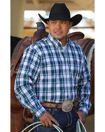 Cinch Men's Blue Godfrey Long Sleeve Western Shirt , , hi-res