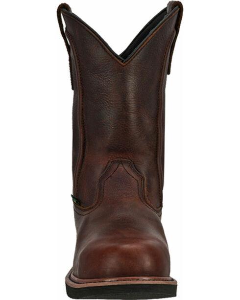 "John Deere® Men's 11"" Pull-On Steel Toe Met Guard Work Boots, Dark Brown, hi-res"