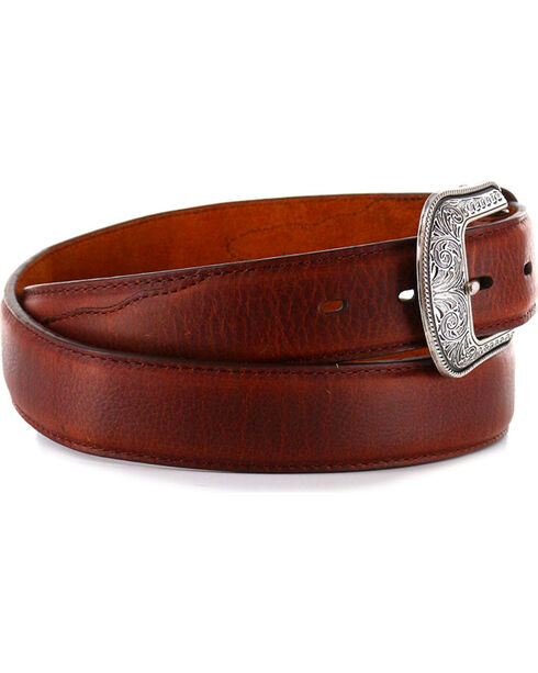 3D Men's Genuine Leather Belt, Brown, hi-res