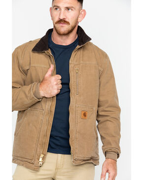 Carhartt Men's Sandstone Ridge Sherpa Lined Jacket, Brown, hi-res