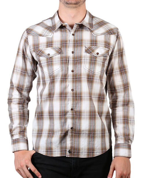 Cody James Men's Plaid Long Sleeve Shirt - Big & Tall, Brown, hi-res