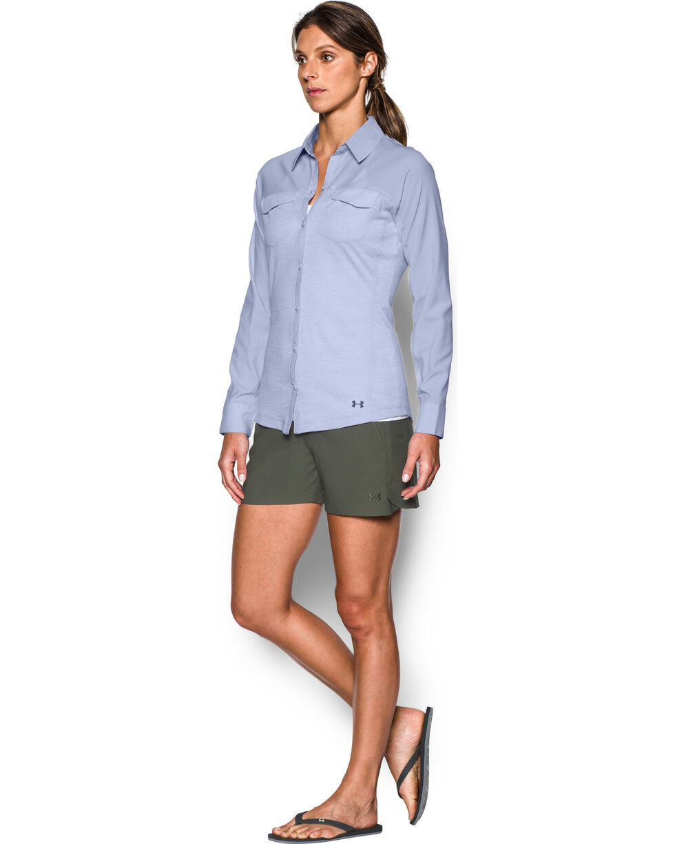 Under Armour Women's Lavender Tide Chaser Hybrid Shirt, Lavender, hi-res