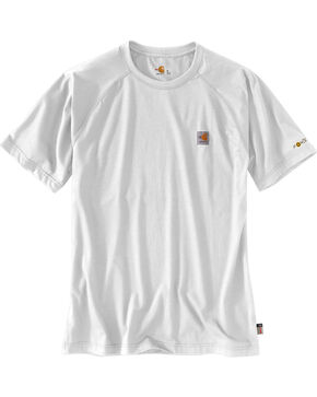 Carhartt Force Men's FR Short Sleeve T-Shirt, Light Grey, hi-res