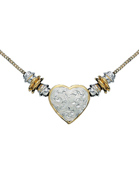 Montana Silversmiths Women's Montana Heart Western Necklace, Multi, hi-res