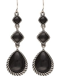 Wrangler Rock 47 Campfire Coals Night Pebble Triple Drop Earrings, , hi-res