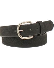 Nocona Men's Western Scroll Belt , , hi-res