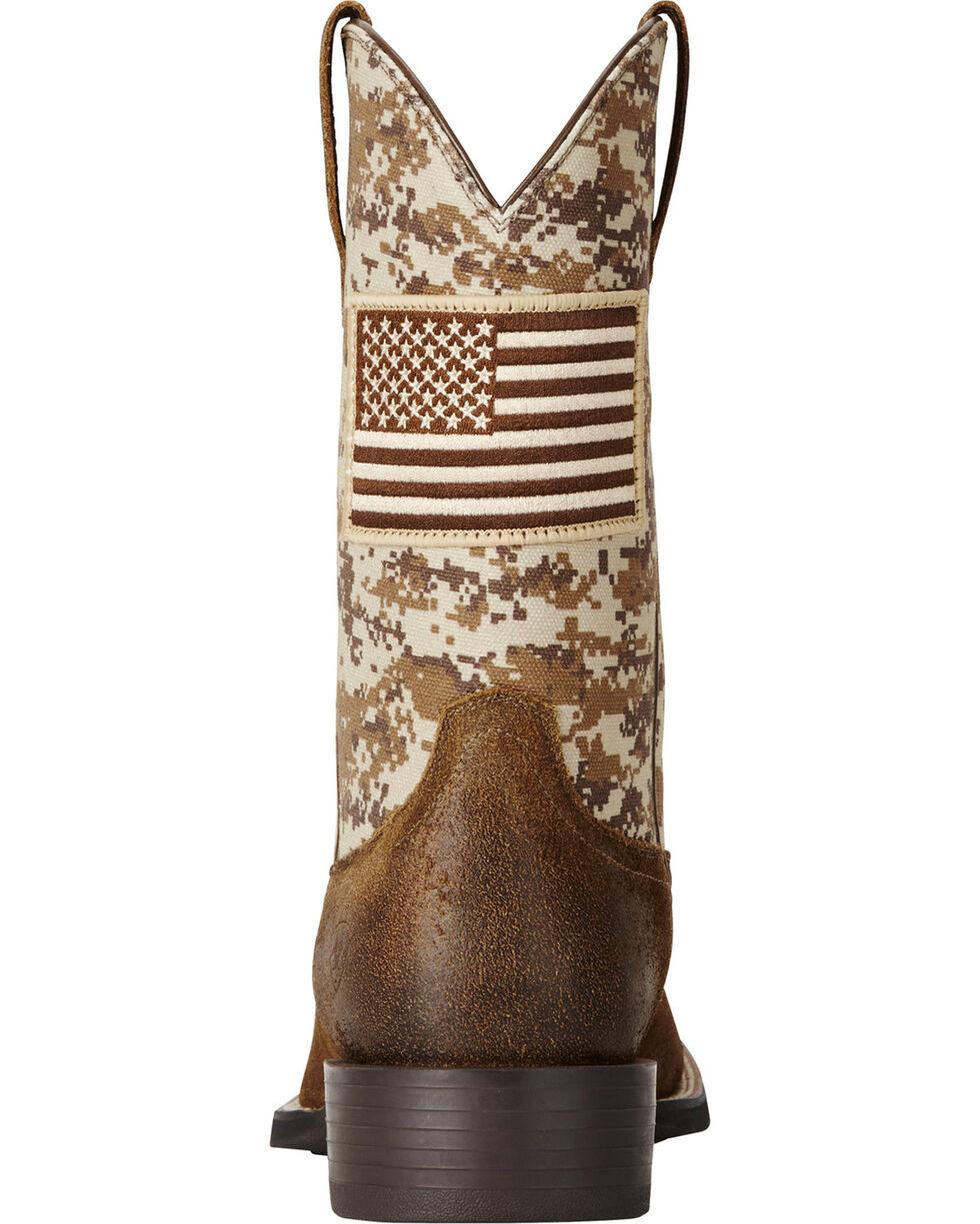 Ariat Men's Camo Patriot Western Boots, Brown, hi-res