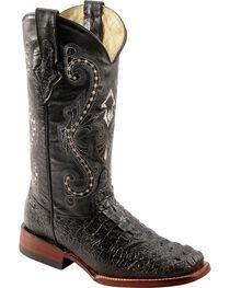 Ferrini Caiman Croc Print Leather Cowgirl Boots - Square Toe, , hi-res