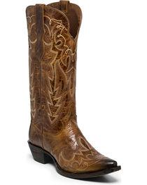 Justin Women's Brown Cowhide Western Boots - Snip Toe , , hi-res