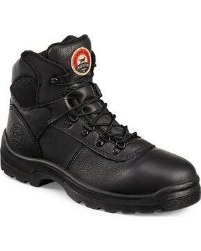 Red Wing Irish Setter Ely Black Hiker Work Boots - Steel Toe, Black, hi-res